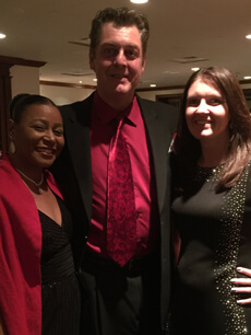 James with paralegals at holiday party